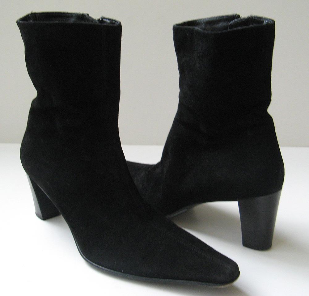 closet aquatalia black suede boots boots coach