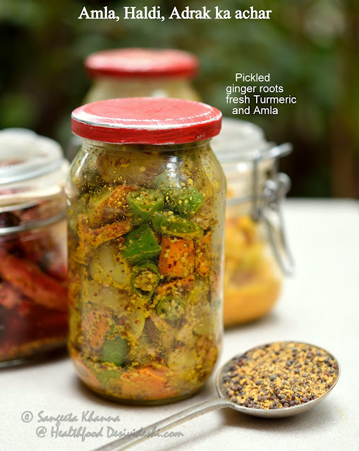 amla turmeric and ginger pickle