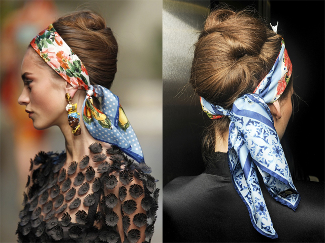 Tendances foulards 2013