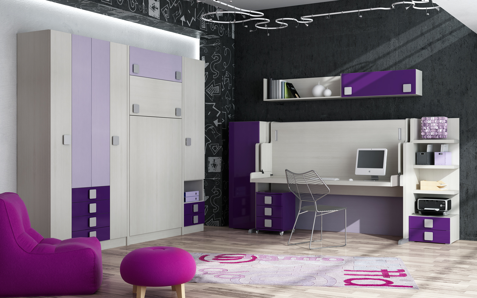 Decoracion mueble sofa camas dobles abatibles for Muebles abatibles