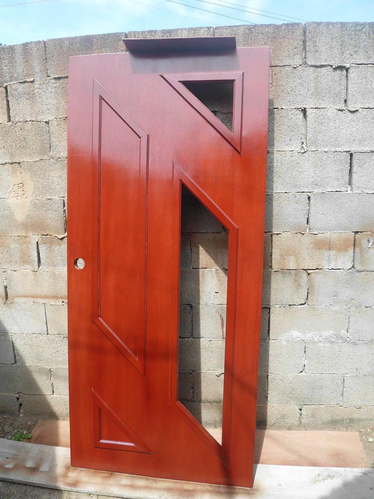 Mis trabajos en madera puerta entamborada con avertura for Puerta entamborada