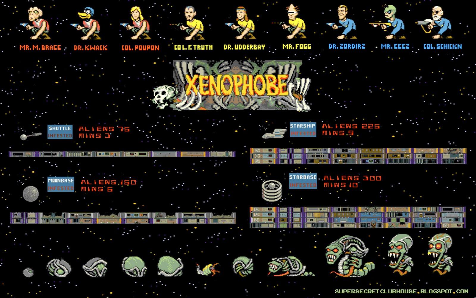 * THE SUPER SECRET CLUBHOUSE: XENOPHOBE Xenophobe Game