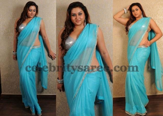 Namitha Blue Classy Saree