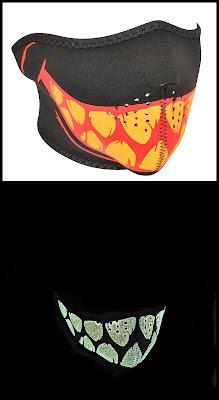 Glow in the Dark Teeth Neoprene Half Face Mask