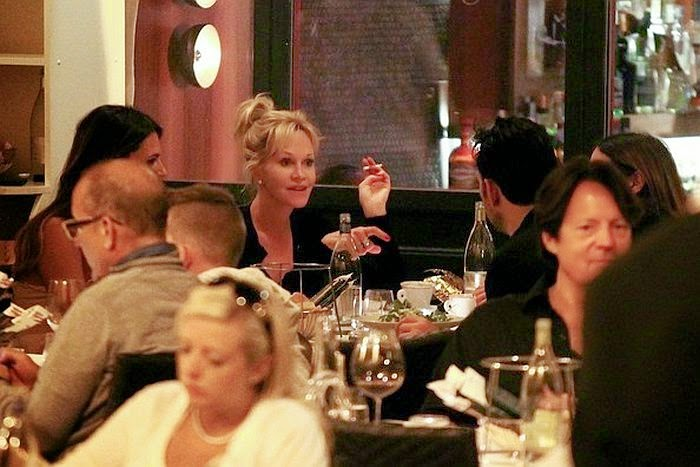 Melanie Griffith was snapped to enjoying a romantic dinner with Matt Dillon in Rome, Italy on Friday night, June 20, 2014.