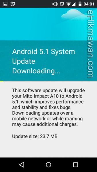 Android One System Update di Mito, Evercoss, dan Nexian (Versi 5.1)