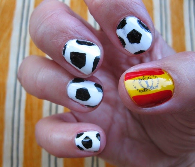 Creative Ideas About Nails Art Designs Girl Theme For 2014 World Cup