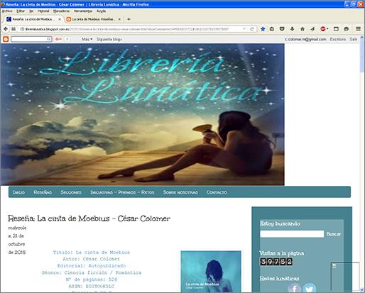http://librerialunatica.blogspot.com.es/2015/10/resena-la-cinta-de-moebius-cesar-colomer.html?showComment=1445500031722#c8631032782339375887