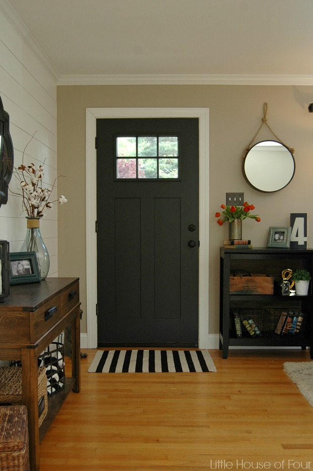 Entryway update homegoods knob love and a for Small entry door