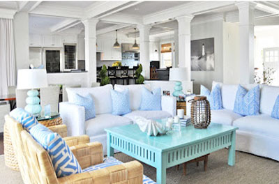coastal style beach house decorating tips. Black Bedroom Furniture Sets. Home Design Ideas