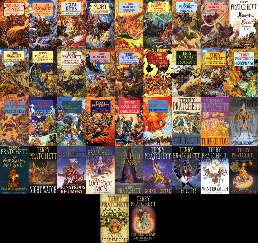 awewsome cover art discworld
