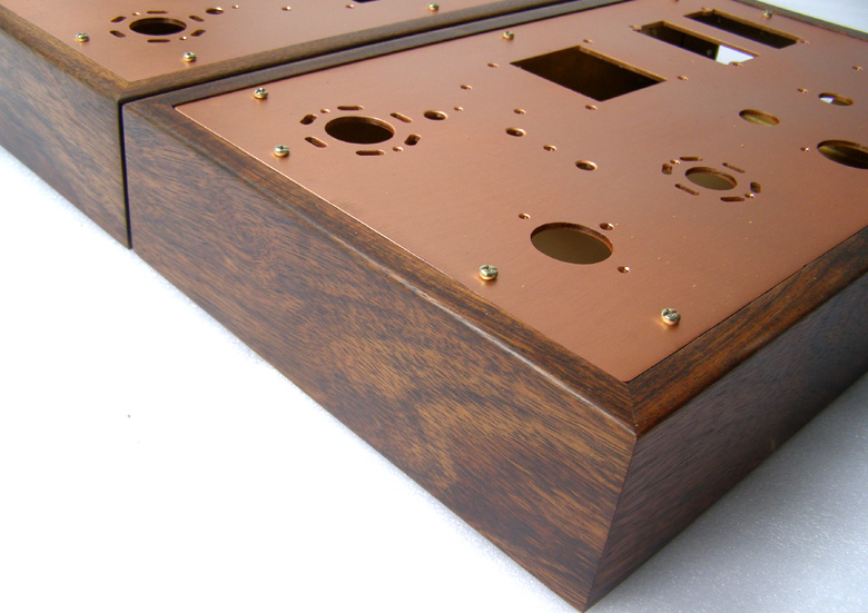 j k audio design solid wood amplifier chassis