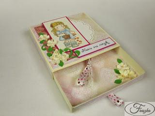 Ręcznie robiona kartka na roczek