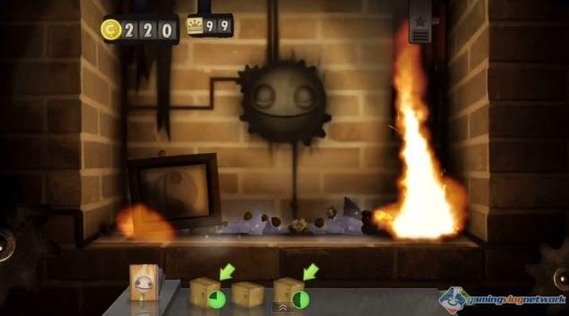 Screenshot of Wii U version of Little Inferno