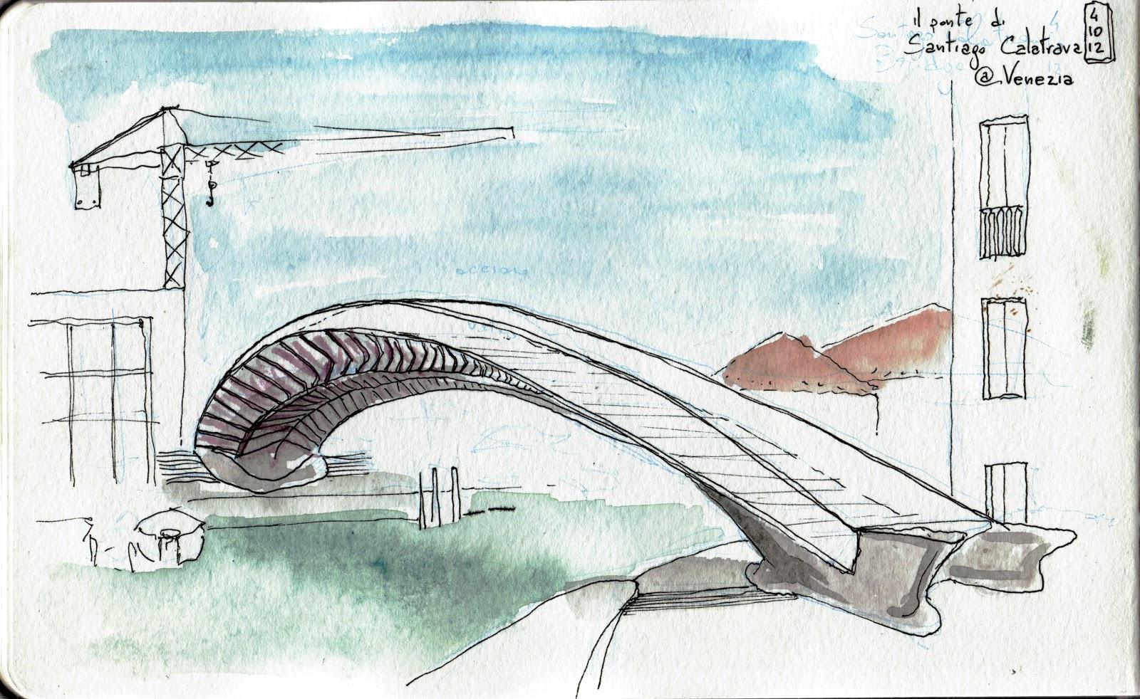 Taccuino pellegrino ponte di calatrava for Disegni di ponte anteriore