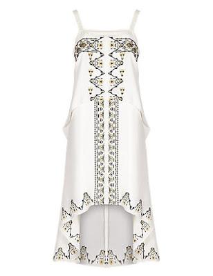 Marks and Spencer Embroidered Skater Dress