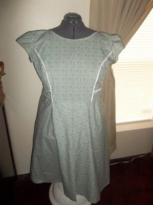 Simplicity 1797 Princess seam dress finished front view