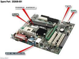 Compaq evo d300 d500 board 252608 001