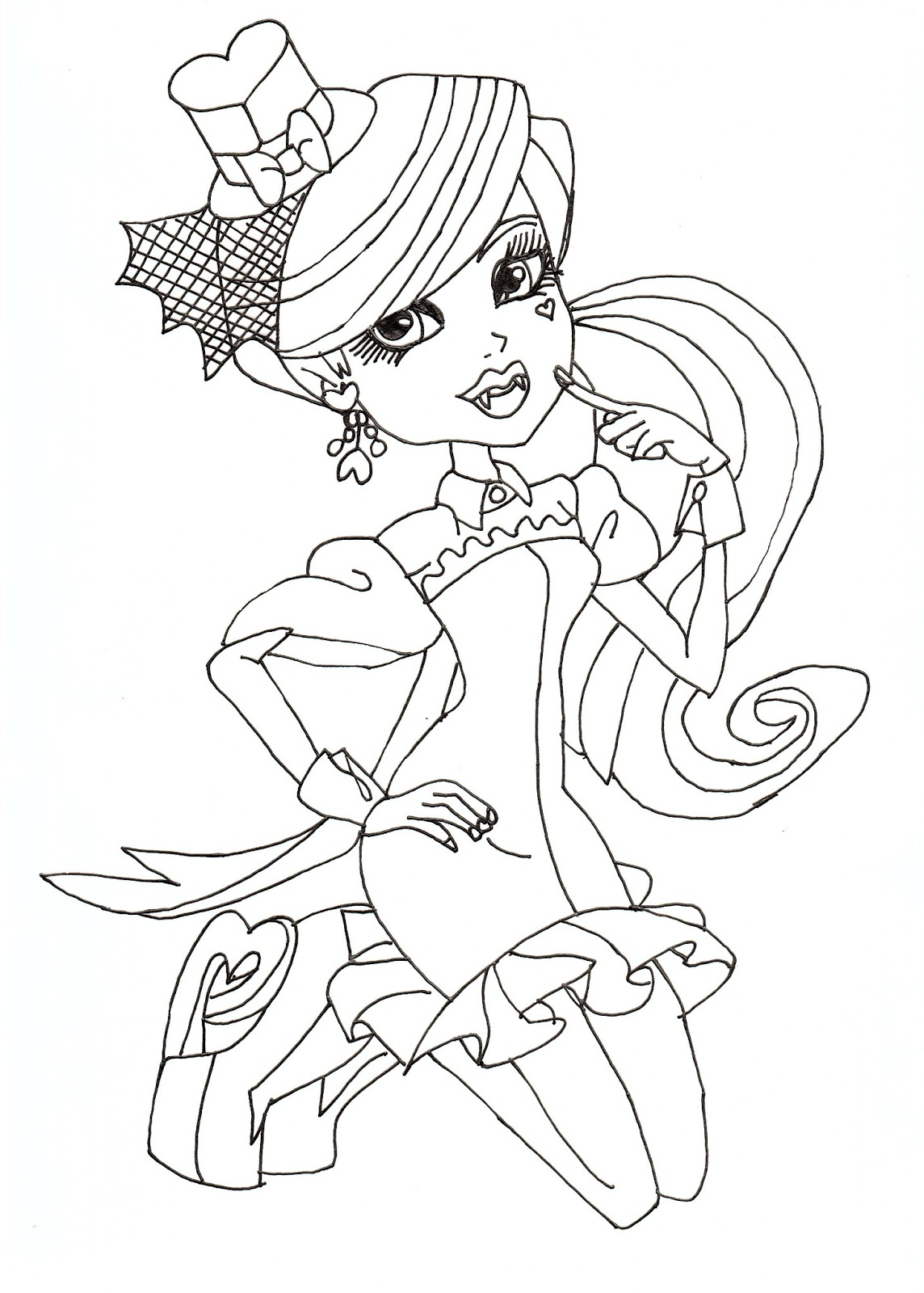 free printable monster high coloring pages draculaura dawn of the