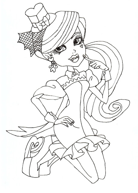 draculaura monster high coloring pages - all about monster high dolls draculaura free printable
