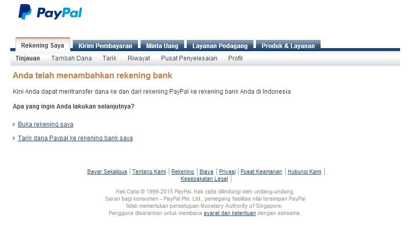 CARA MENAMBAHKAN REKENING BANK KE PAYPAL (DENGAN GAMBAR)