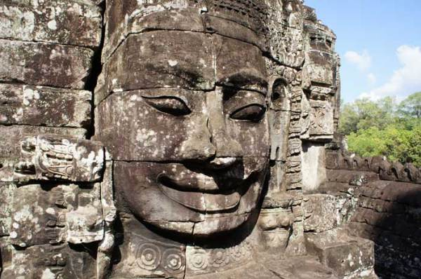 One of the 216 huge faces of Avalokiteshvara in the Bayon