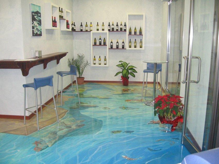 3D Floor On Kitchen 1