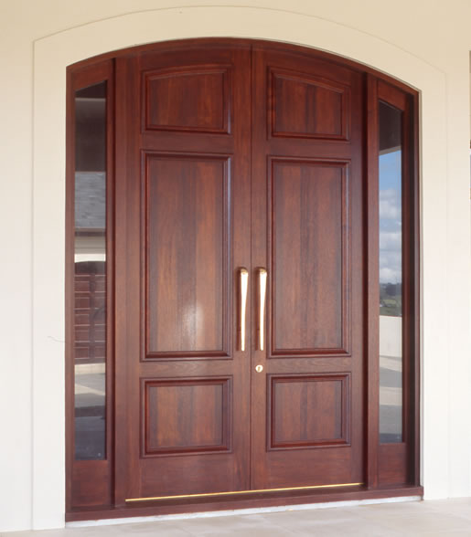 New home designs latest wooden main entrance homes doors for Double door for house