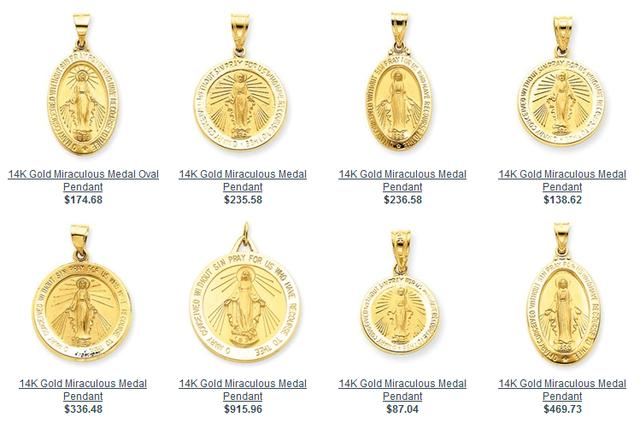 Gold Miraculous Medals