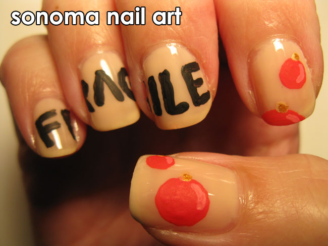 sonoma nail art a christmas story. Black Bedroom Furniture Sets. Home Design Ideas