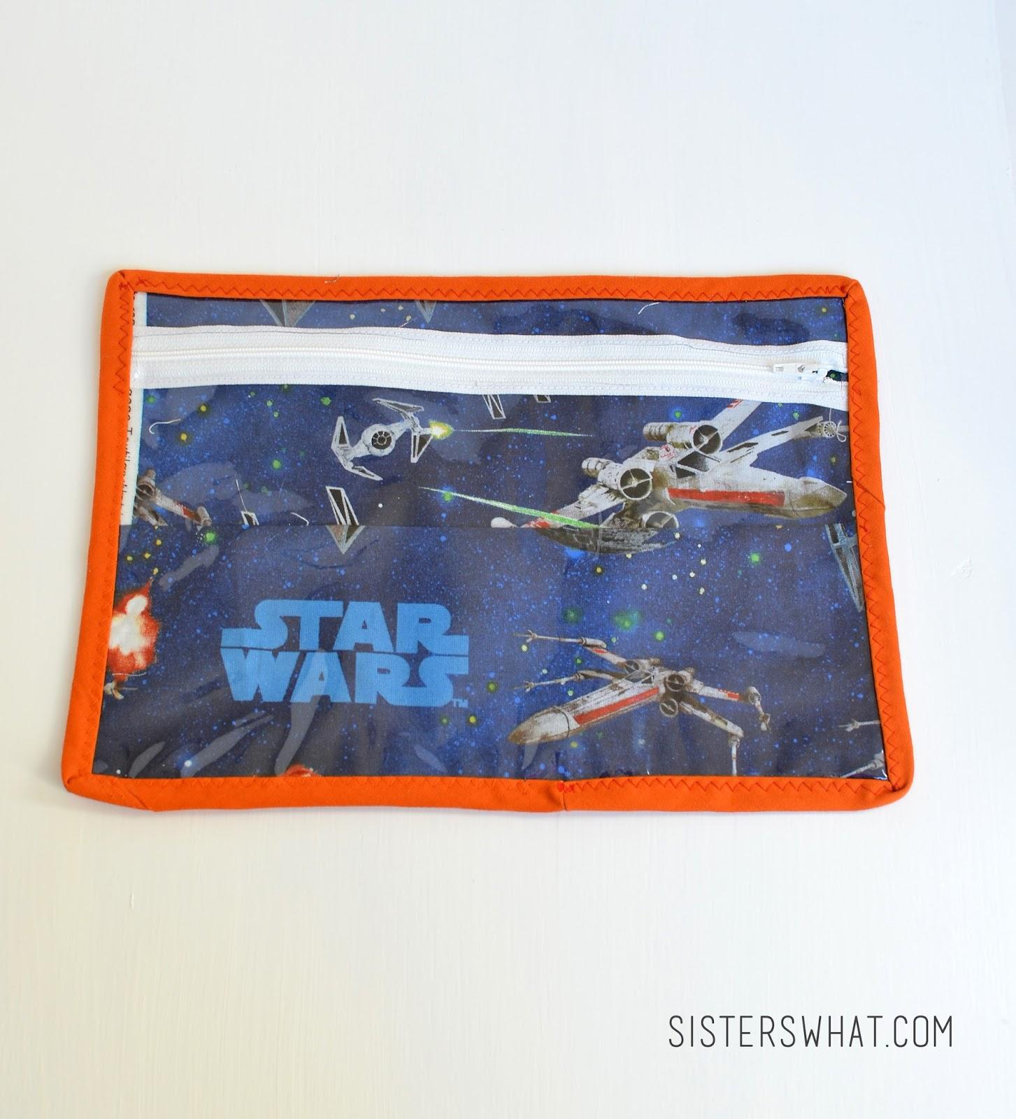 #star wars see through zipper pouch tutorial