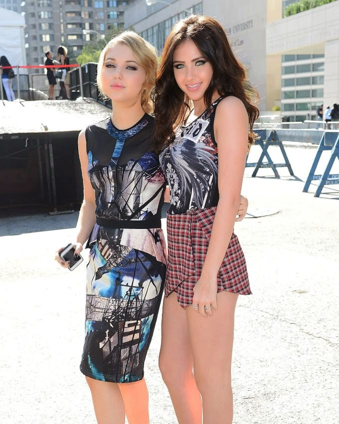 The two young actresses Sammi Hanratty and Ryan Newman