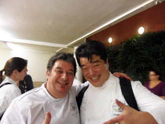 Com o Gran chef Rogério Shimura