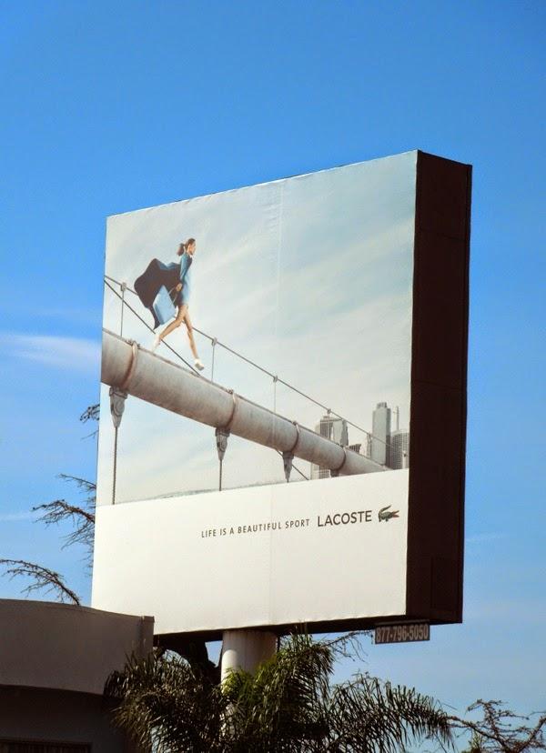 lacoste life ia a beautiful sport female model billboard. Black Bedroom Furniture Sets. Home Design Ideas