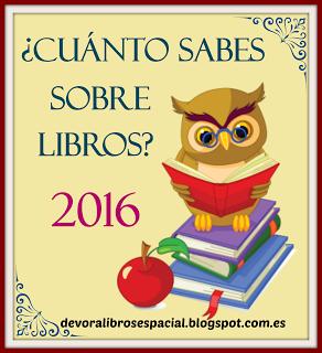 Participo en ¿Cuánto sabes sobre libros? =)