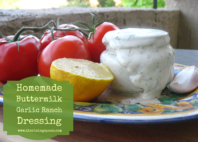 Homemade Buttermilk Garlic Ranch Dressing | The Rising Spoon