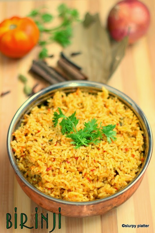 Flavourful rice dish