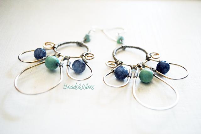 Orecchini azzurri turchesi