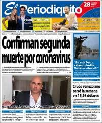 28/03/2020    PRIMERA PAGINA DIARIO DE VENEZUELA