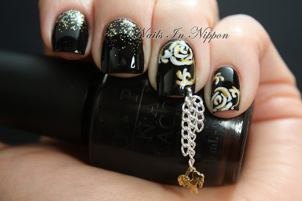 nails in nippon roses with chains