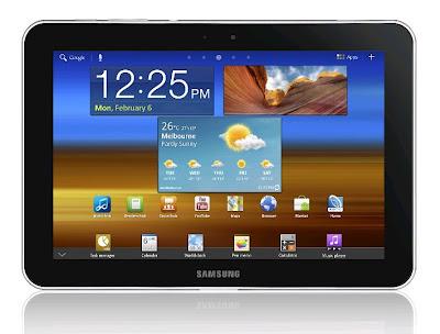 Samsung Galaxy Tab 8.9 4G P7320T Front