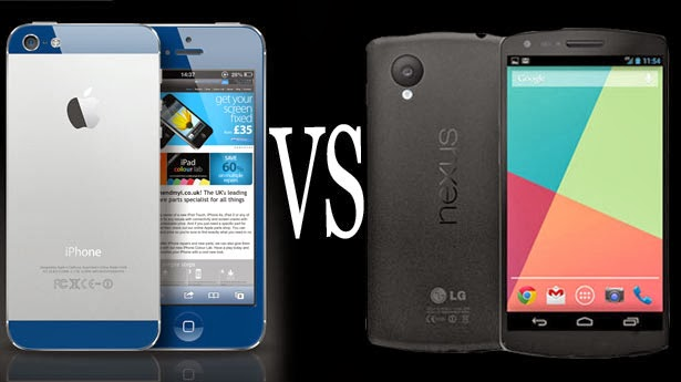 Nexus 5 vs iPhone 5s, new smartphone, iPhone 5s, Nexus 5, google smartphone, Apple phone, Android KitKat, iOS, image stabilization, camera phone