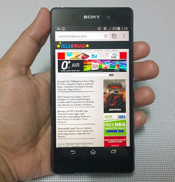 Sony Xperia Z2, Smart Sony Xperia Z2