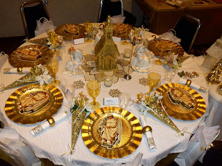 harvest tea tablescape