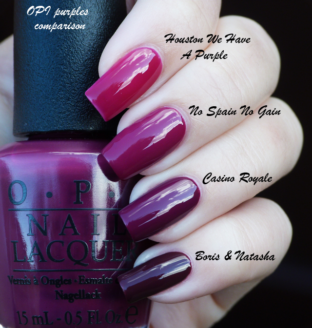 Lucy's Stash - OPI purples comparison