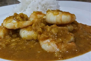 HOMEMADE PRAWN DHANSAK CURRY