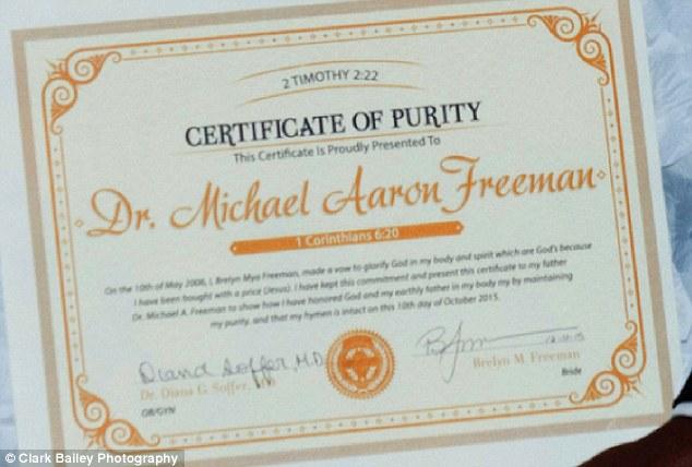 SHANWILS BLOG: Bride Presents Certificate of Virginity To Her Dad On ...