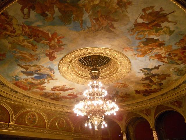 mural cieling chandelier
