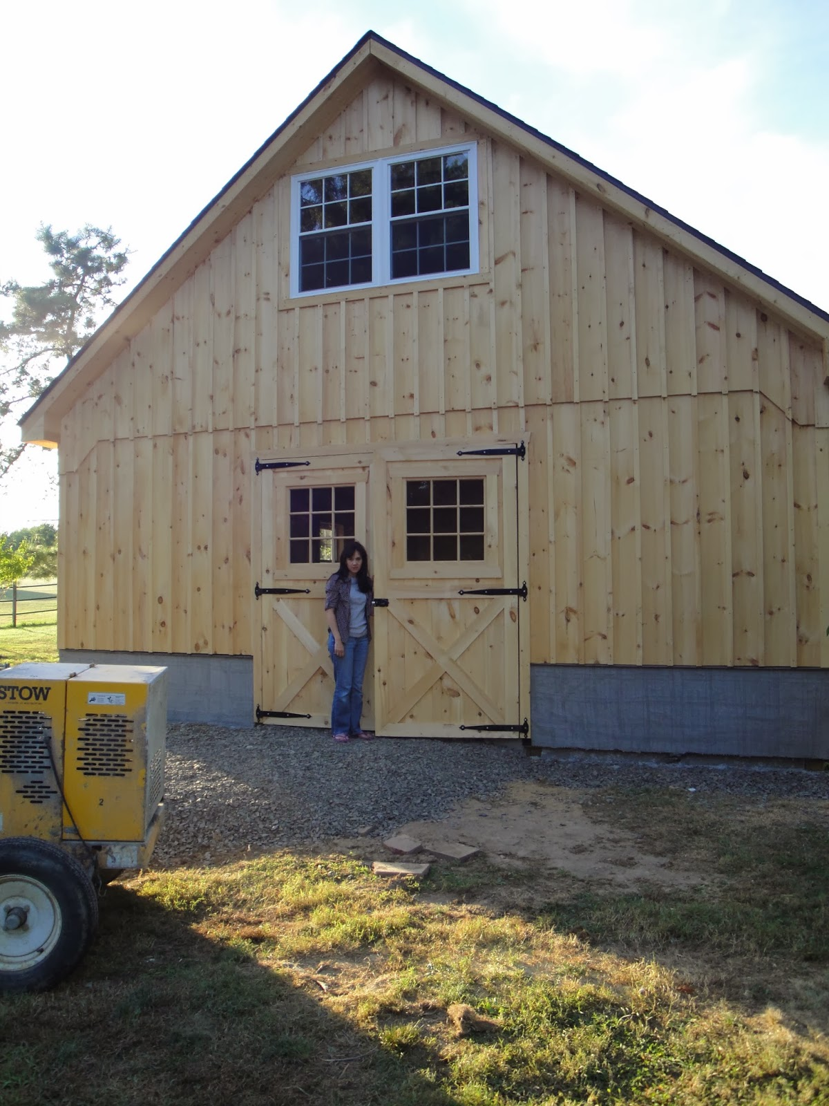Amish Stone Masons : Lee s hideaway the foundation of a barn