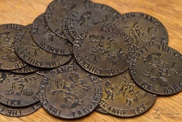 Chicken Ranch brothel brass tokens, fake, 365, La Grange, New Braunfels photography